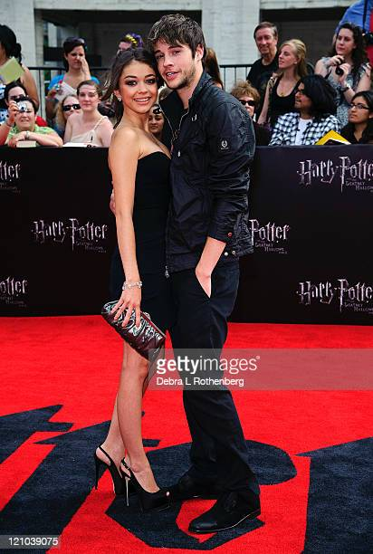 Sarah Hyland and her boyfriend Matt Prokop attend the premiere of 'Harry Potter and the Deathly Hallows Part 2' at Avery Fisher Hall Lincoln Center...
