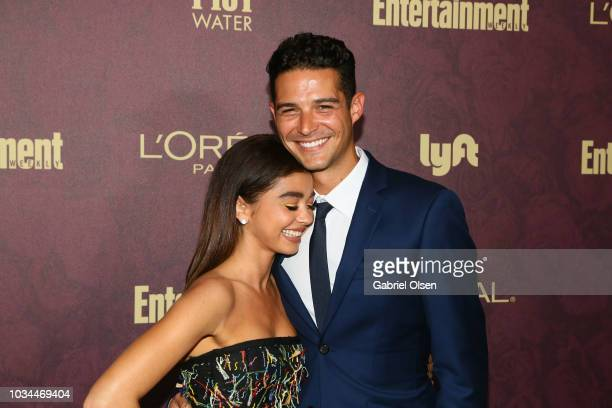 Sarah Hyland and Wells Adams arrive to the 2018 Entertainment Weekly PreEmmy Party at Sunset Tower Hotel on September 15 2018 in West Hollywood...