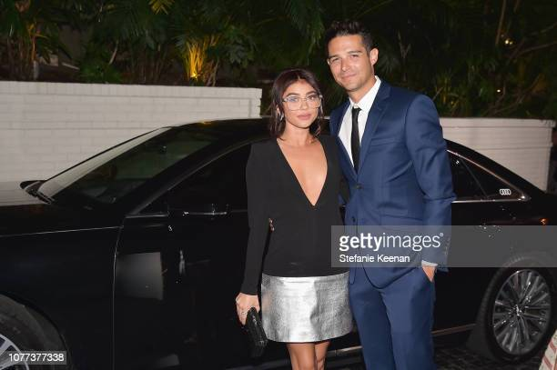 Sarah Hyland and Wells Adams attend Audi Arrivals at W Magazine's Best Performances Party at Chateau Marmont on January 4 2019 in Los Angeles...