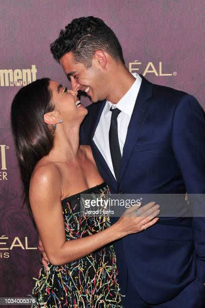 Sarah Hyland and Wells Adams attends the 2018 Entertainment Weekly PreEmmy Party at Sunset Tower Hotel on September 15 2018 in West Hollywood...