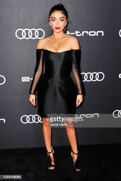 Sarah Hyland arrives at Audi Celebrates The 70th Emmys at Kimpton La Peer Hotel on September 14 2018 in West Hollywood California
