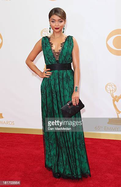 Sarah Hyland arrives at the 65th Annual Primetime Emmy Awards at Nokia Theatre LA Live on September 22 2013 in Los Angeles California