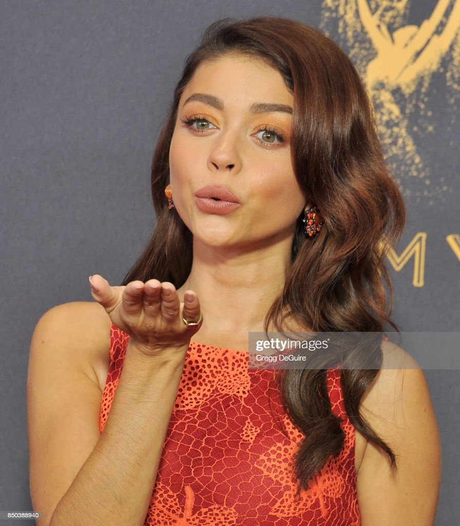 Sarah Hyland arrives at the 69th Annual Primetime Emmy Awards at Microsoft Theater on September 17, 2017 in Los Angeles, California.