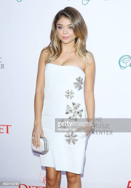 Sarah Hyland arrives at The Dizzy Feet Foundation's 4th Annual Celebration of Dance Gala held at Dorothy Chandler Pavilion on July 19 2014 in Los...