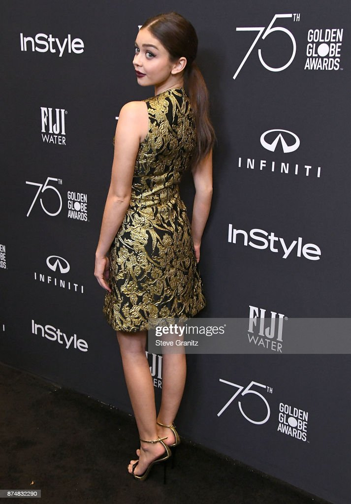 Sarah Hyland arrives at the Hollywood Foreign Press Association And InStyle Celebrate The 75th Anniversary Of The Golden Globe Awards at Catch LA on November 15, 2017 in West Hollywood, California.