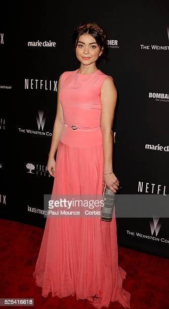 Sarah Hyland arrives at the Weinstein Company Golden Globes AfterParty