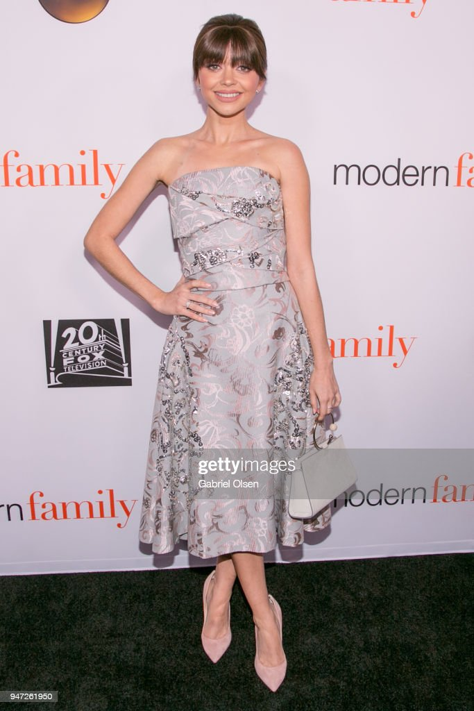 Sarah Hyland arrives for the FYC Event for ABC's 'Modern Family' at Avalon on April 16, 2018 in Hollywood, California.
