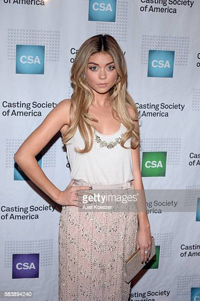 Sarah Hyland arrives to The Casting Society of America's 30th Annual Artios Awards Banquet at the Beverly Hilton Hotel Thursday evening