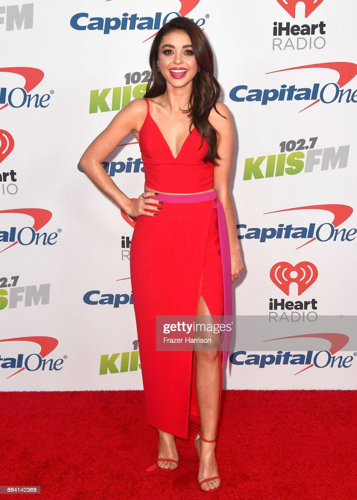 Sarah Hyland attends 102.7 KIIS FM's Jingle Ball 2017 presented by Capital One at The Forum on December 1, 2017 in Inglewood, California.