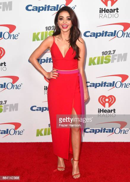 Sarah Hyland attends 1027 KIIS FM's Jingle Ball 2017 presented by Capital One at The Forum on December 1 2017 in Inglewood California