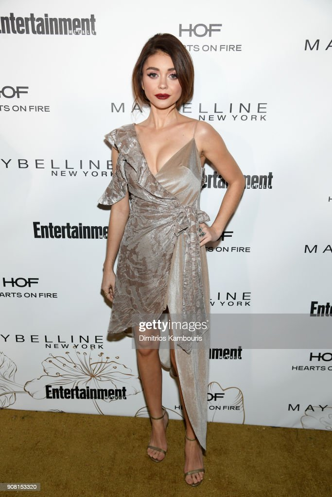 Sarah Hyland attends Entertainment Weekly's Screen Actors Guild Award Nominees Celebration sponsored by Maybelline New York at Chateau Marmont on January 20, 2018 in Los Angeles, California.
