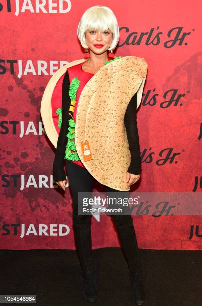 Sarah Hyland attends Just Jared's 7th Annual Halloween Party at Goya Studios on October 27 2018 in Los Angeles California