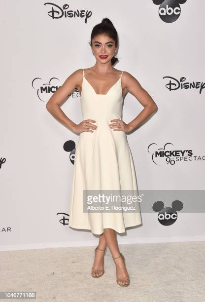 Sarah Hyland attends Mickey's 90th Spectacular at The Shrine Auditorium on October 6 2018 in Los Angeles California