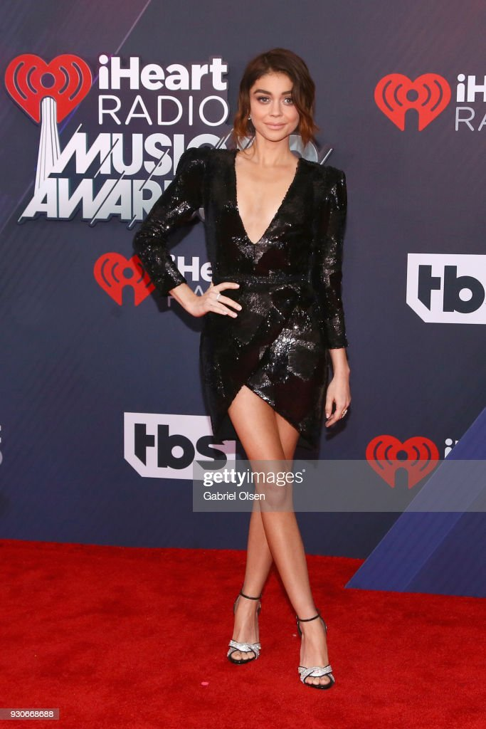 Sarah Hyland attends the 2018 iHeartRadio Music Awards at the Forum on March 11, 2018 in Inglewood, California.