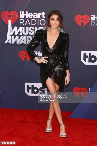 Sarah Hyland attends the 2018 iHeartRadio Music Awards at the Forum on March 11 2018 in Inglewood California
