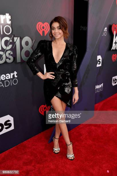 Sarah Hyland attends the 2018 iHeartRadio Music Awards which broadcasted live on TBS TNT and truTV at The Forum on March 11 2018 in Inglewood...