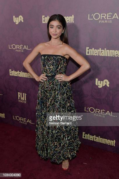 Sarah Hyland attends the 2018 PreEmmy Party hosted by Entertainment Weekly and L'Oreal Paris at Sunset Tower on September 15 2018 in Los Angeles...