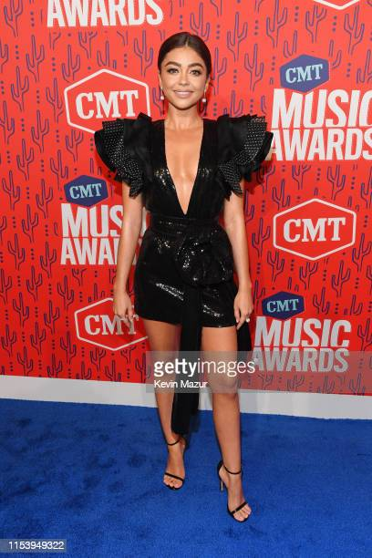 Sarah Hyland attends the 2019 CMT Music Award at Bridgestone Arena on June 05 2019 in Nashville Tennessee
