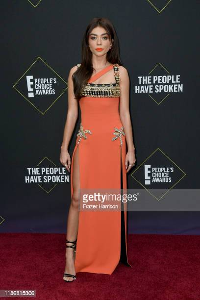Sarah Hyland attends the 2019 E People's Choice Awards at Barker Hangar on November 10 2019 in Santa Monica California