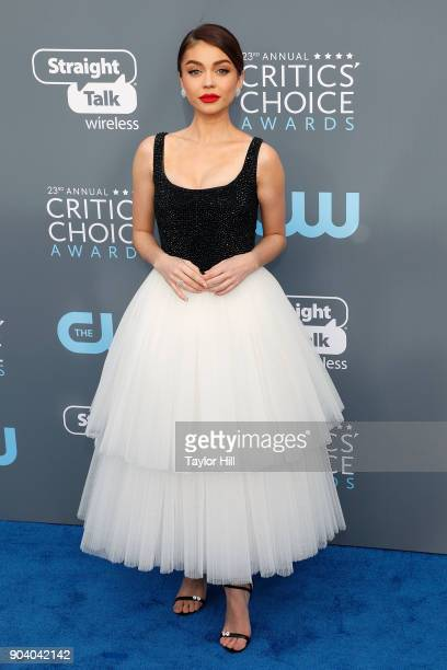 Sarah Hyland attends the 23rd Annual Critics' Choice Awards at Barker Hangar on January 11 2018 in Santa Monica California