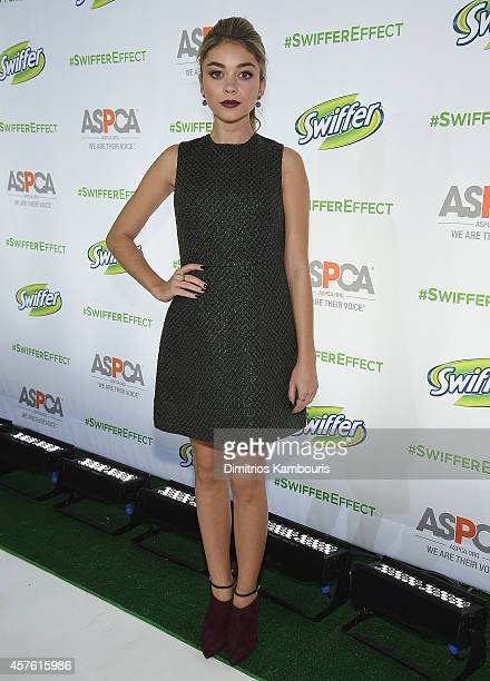 Sarah Hyland attends the ASPCA Event Hosted By Sarah Hyland And Her Dog Barkley Bixby at Pillars 38 on October 21 2014 in New York City