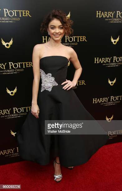 Sarah Hyland attends the Broadway Opening Day performance of 'Harry Potter and the Cursed Child Parts One and Two' at The Lyric Theatre on April 22...