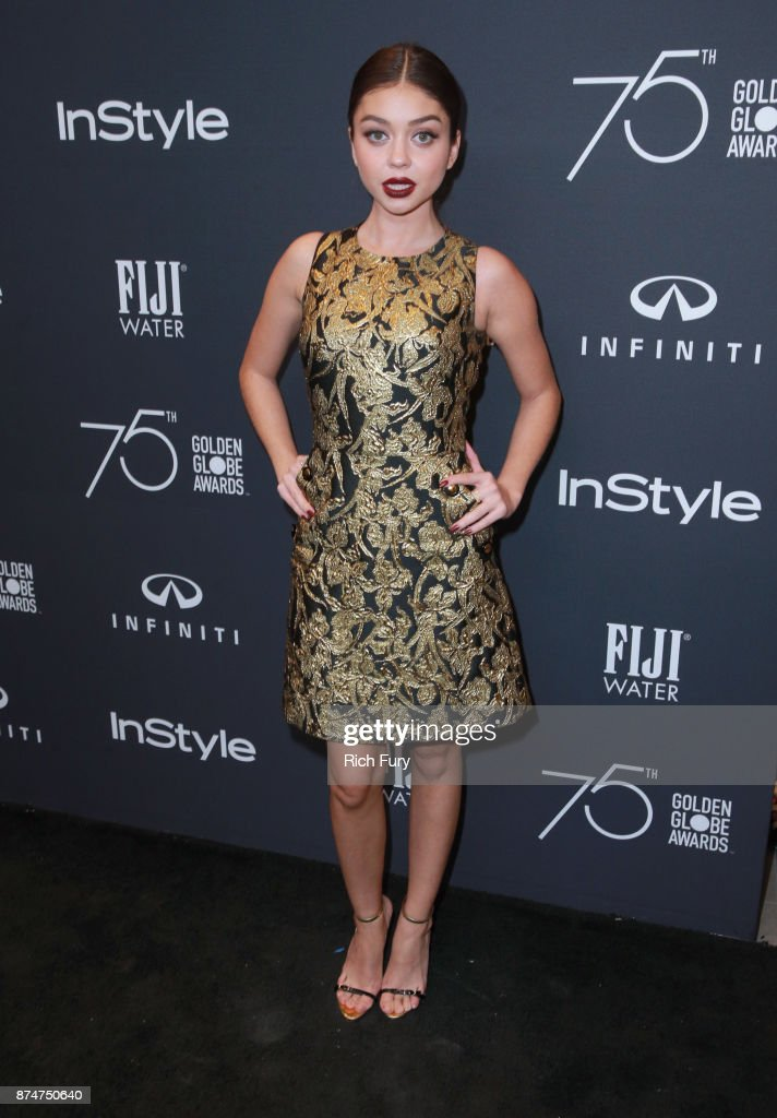 Sarah Hyland attends the Hollywood Foreign Press Association and InStyle celebrate the 75th Anniversary of The Golden Globe Awards at Catch LA on November 15, 2017 in West Hollywood, California.