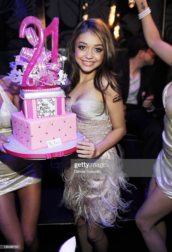 Sarah Hyland celebrates her birthday at The Bank nightclub at the Bellagio Hotel and Casino on December 10, 2011 in Las Vegas, Nevada.
