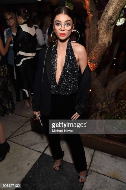 Sarah Hyland celebrates with Belvedere Vodka at Vanity Fair and Lancome Paris Toast Women in Hollywood hosted by Radhika Jones and Ava DuVernay on...