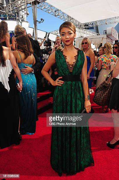 Sarah Hyland from Modern Family on the red carpet for the 65th Primetime Emmy Awards which will be broadcast live across the country 8001100 PM ET/...
