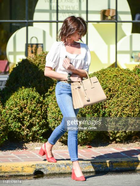 Sarah Hyland is seen on March 16, 2019 in Los Angeles, California.
