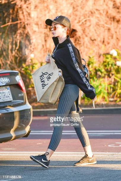 Sarah Hyland is seen on March 18 2019 in Los Angeles California