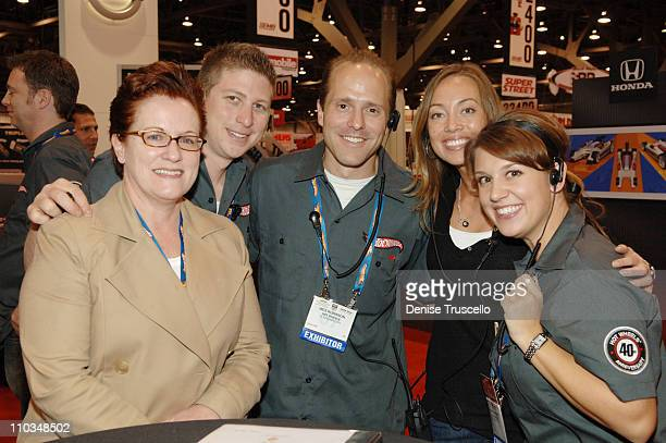 Sarah Ingram Dan Salazar Wes Robinson Michele Sturdivant and Lauren Bennett arrive at the Hot Wheels 40th Anniversary Kick Off at SEMA 2007 at The...