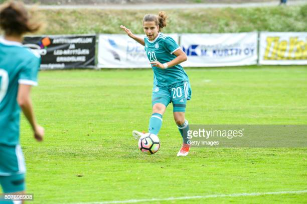Sarah Jabbes of Germany during the Nordic Cup 2017 match between U16 Girl's Germany and U16 Girl's Norway on July 4 2017 in Kemi Finland