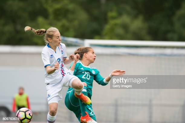 Sarah Jabbes of Germany during the Nordic Cup 2017 match between U16 Girl's Germany and U16 Girl's Iceland on July 6 2017 in Oulu Finland
