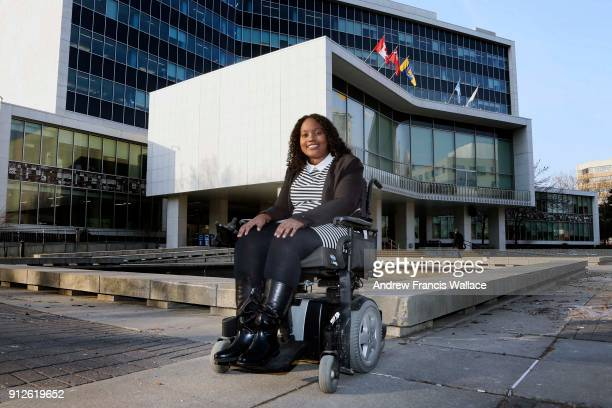 TORONTO ON JANUARY 26 Sarah Jama former TDSB student poses outside Hamilton City Hall where she works for councillor Matthew Green January 26 2018...