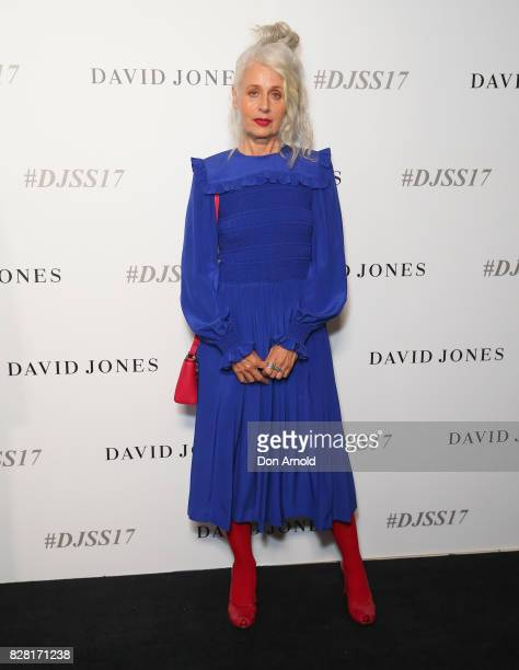 Sarah Jane Adams arrives ahead of the David Jones Spring Summer 2017 Collections Launch at David Jones Elizabeth Street Store on August 9 2017 in...