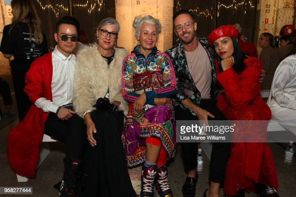 Sarah Jane Adams attends the Anna Quan show at MercedesBenz Fashion Week Resort 19 Collections at Carriageworks on May 14 2018 in Sydney Australia