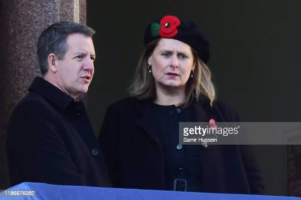 Sarah Jane Brown attends the annual Remembrance Sunday memorial at The Cenotaph on November 10 2019 in London England