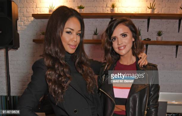 Sarah Jane Crawford and Lucy Mecklenburgh attend the launch of new restaurant 'by CHLOE' in Covent Garden on February 5 2018 in London England