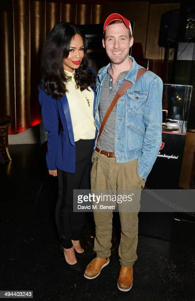 Sarah Jane Crawford and Ricky Wilson attend the launch of the Tonino Lamborghini Antares Smartphone at No 41 Mayfair on May 29 2014 in London England