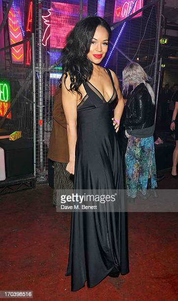 Sarah Jane Crawford attends Club DKNY in celebration of #DKNYARTWORKS hosted by Cara Delevingne with special performances by Rita Ora and Iggy Azalea...
