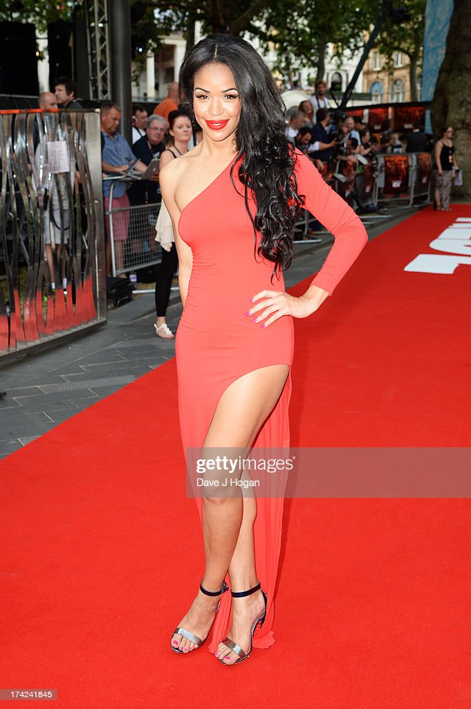 Sarah Jane Crawford attends the European premiere of 'Red 2' at The Empire Leicester Square on July 22, 2013 in London, England.