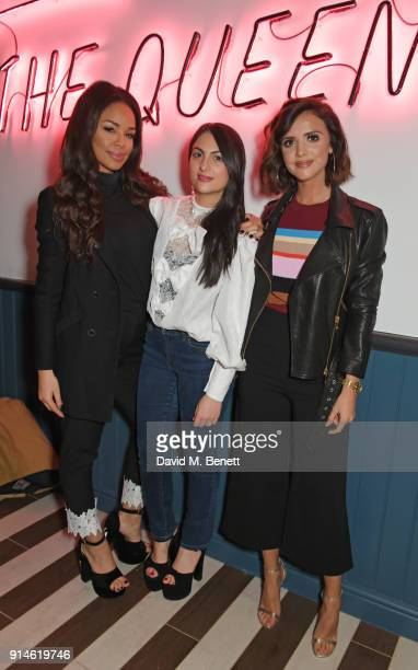 Sarah Jane Crawford by CHLOE CoFounder Samantha Wasser and Lucy Mecklenburgh attend the launch of new restaurant 'by CHLOE' in Covent Garden on...