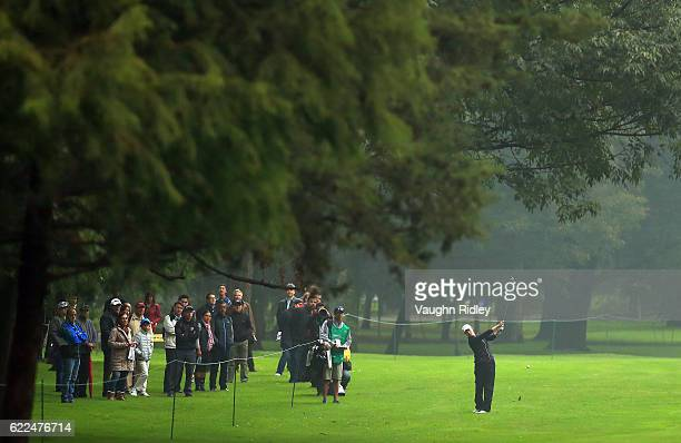Sarah Jane Smith of Australia hits her 2nd shot on the 8th hole during the second round of the Citibanamex Lorena Ochoa Invitational Presented By...