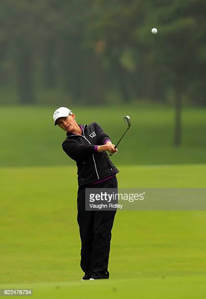 Sarah Jane Smith of Australia hits her 3rd shot on the 8th hole during the second round of the Citibanamex Lorena Ochoa Invitational Presented By...