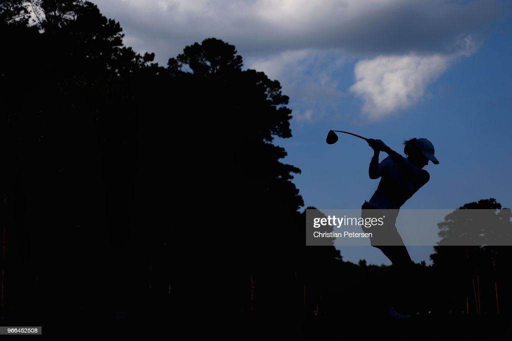 Sarah Jane Smith of Australia plays a tee shot on the 10th hole during the third round of the 2018 U.S. Women's Open at Shoal Creek on June 2, 2018 in Shoal Creek, Alabama.