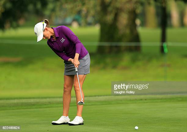 Sarah Jane Smith of Australia putts on the 18th hole during the second round of the Citibanamex Lorena Ochoa Invitational Presented By Aeromexico and...