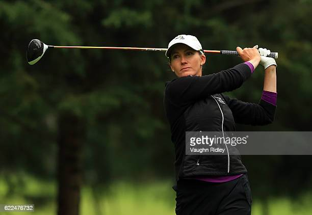 Sarah Jane Smith of Australia watches her 1st shot on the 9th hole during the second round of the Citibanamex Lorena Ochoa Invitational Presented By...