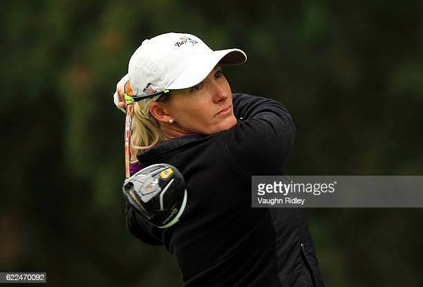 Sarah Jane Smith of Australia watches her drive on the 6th hole during the second round of the Citibanamex Lorena Ochoa Invitational Presented By...